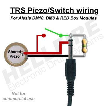 TRS PiezoSwitchDM10wiring1 hellfire electronic drum systems alesis dm10, pearl redbox alesis dm10 wiring diagram at fashall.co